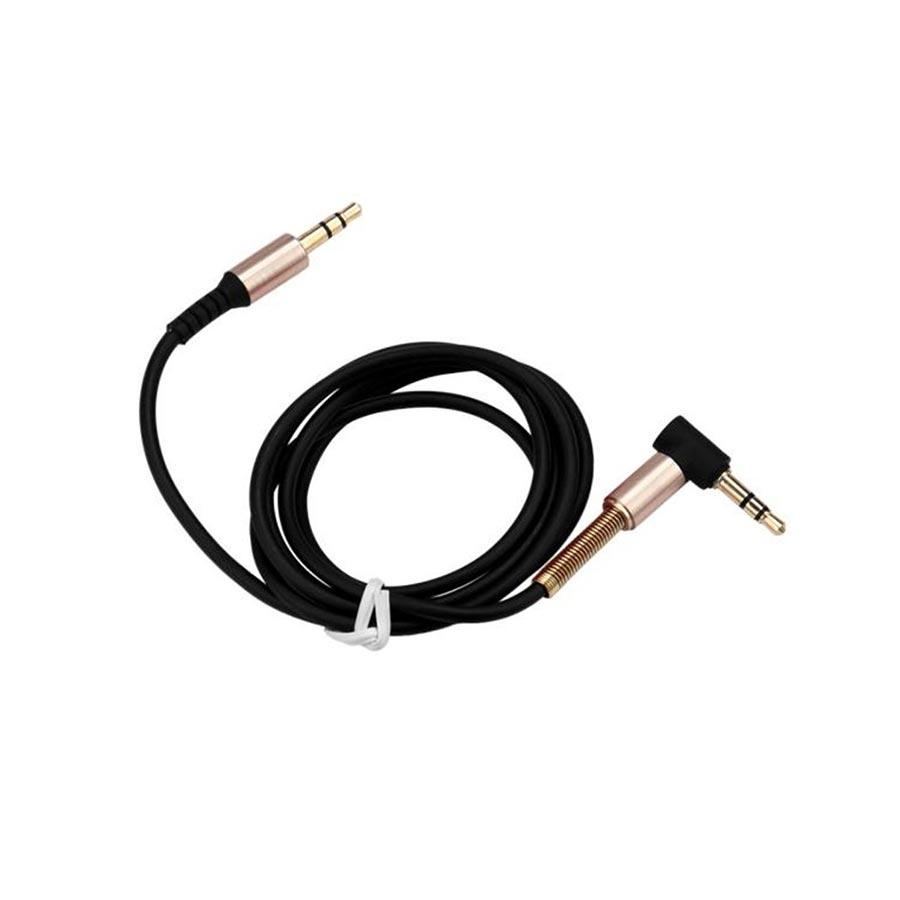 Cablu auxiliar in L 3.5mm la 3.5mm din cauciuc 100cm