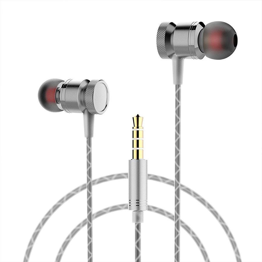 Casti tip dop cu microfon control media si output audio bun