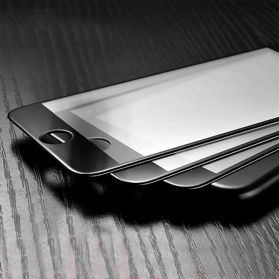 Folie sticla iPhone 6S Plus curbata cu margini flexibile