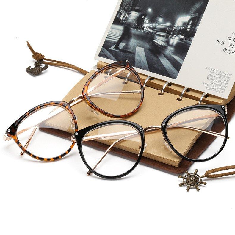 Ochelari lentile transparente model Slim cu aspect vintage