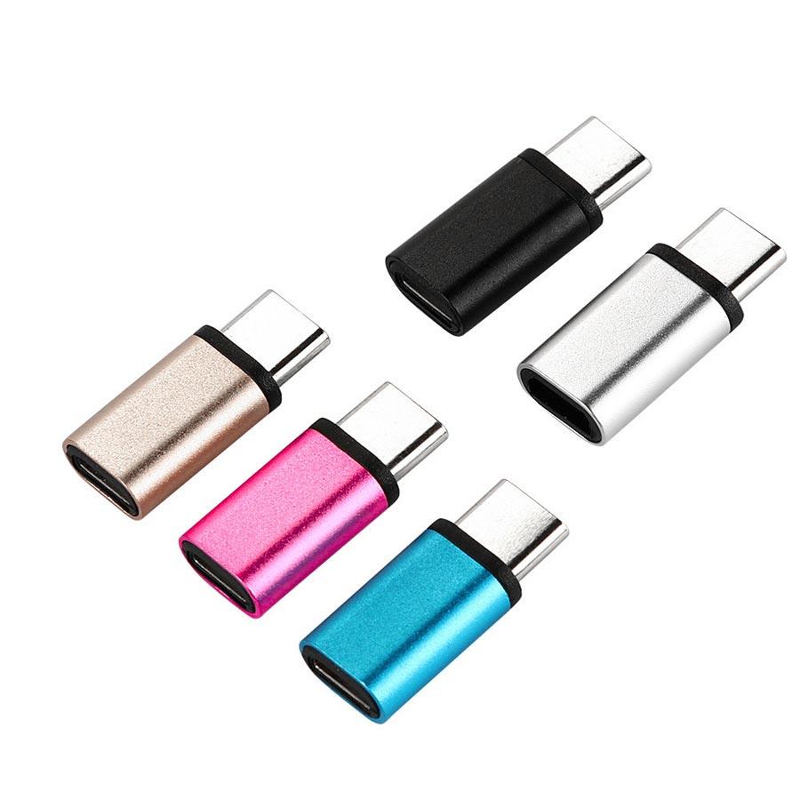 Adaptor USB tip C la Micro USB tip B din aluminiu