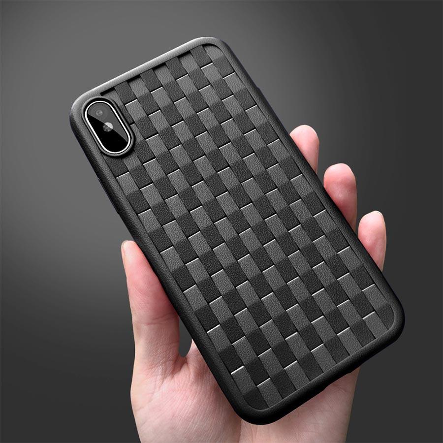 Husa iPhone 7 din material flexibil TPU cu textura
