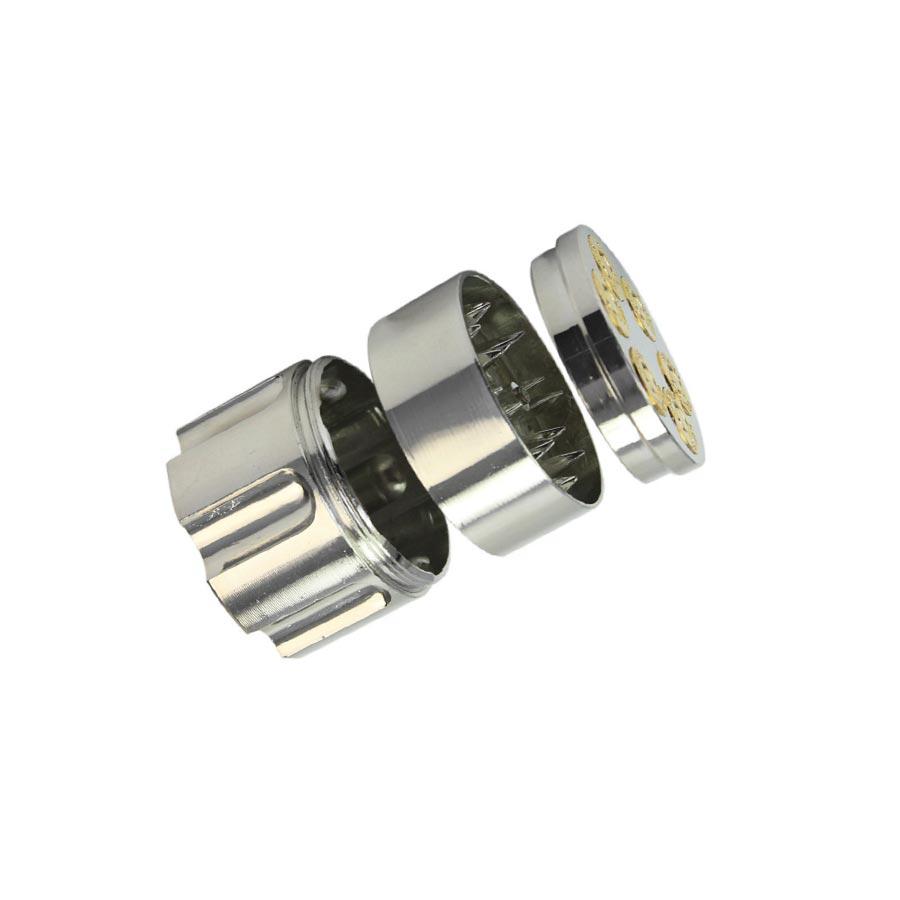 Grinder tutun metalic 2 camere aspect de cilindru pistol