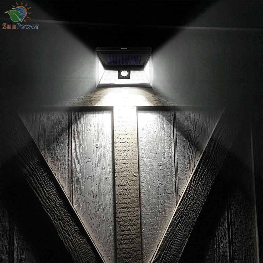 Lampa perete solara senzor miscare IR IP65 24 LED 3W 460lm