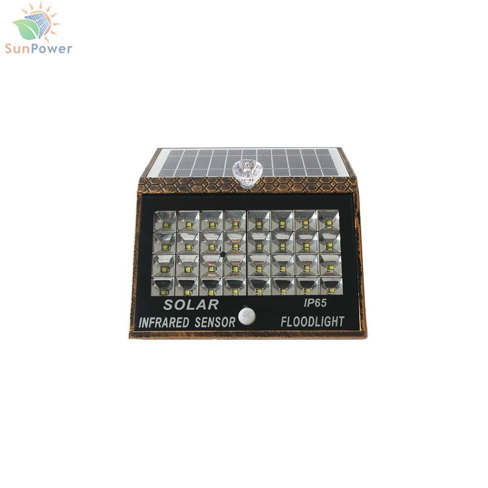 Lampa solara perete senzor miscare IP65 32 LED 2.5W 600lm