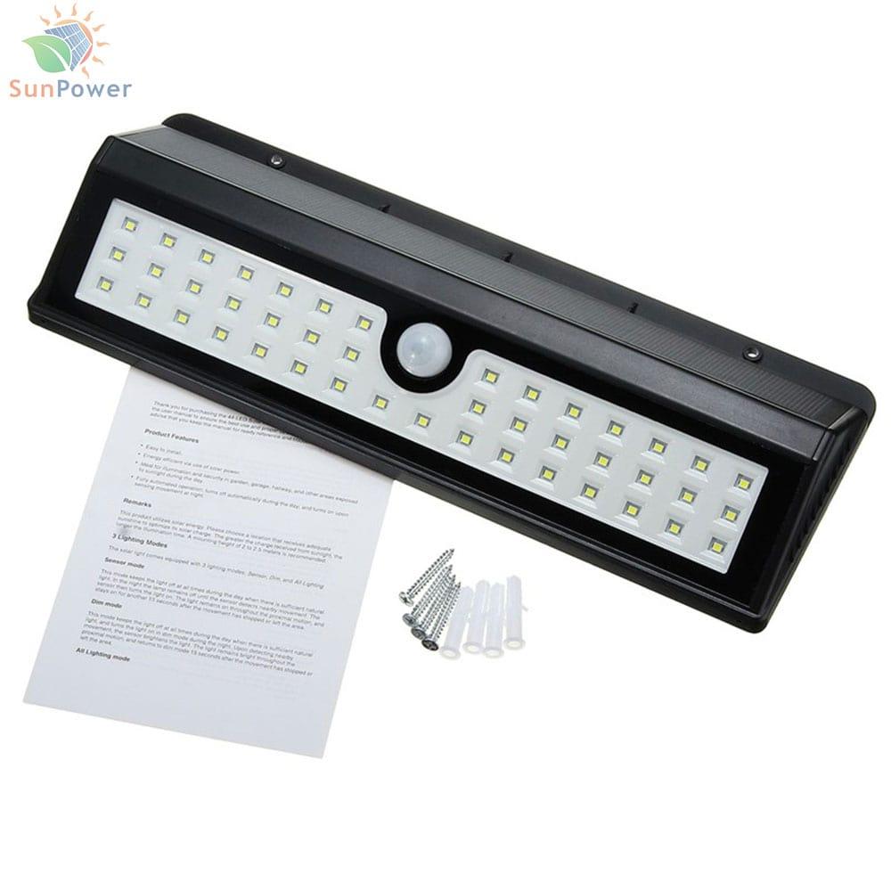Lampa solara senzor miscare IR IP65 44 LED 7W 700lm