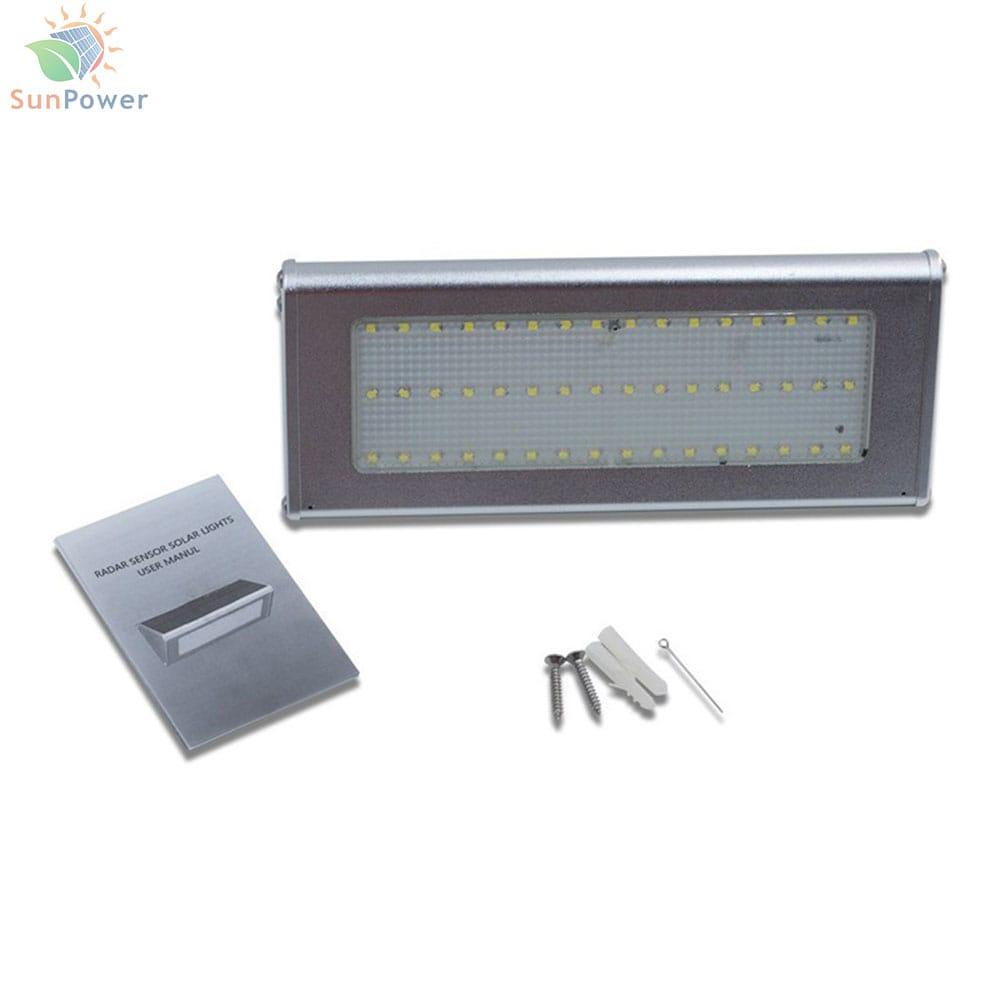 Lampa solara perete senzor miscare IP65 48 LED 6W 800lm