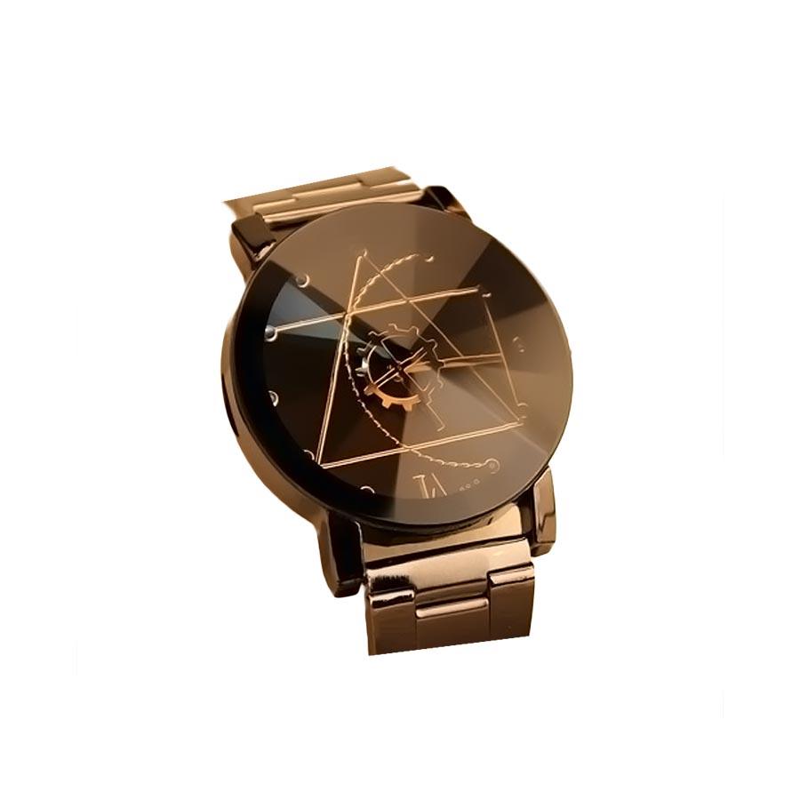 Ceas barbatesc curea din metal analog mecanism Quartz