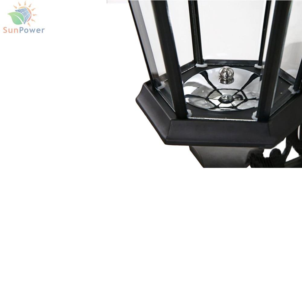 Felinar solar vintage IP65 8 LED 1.6W 200lm