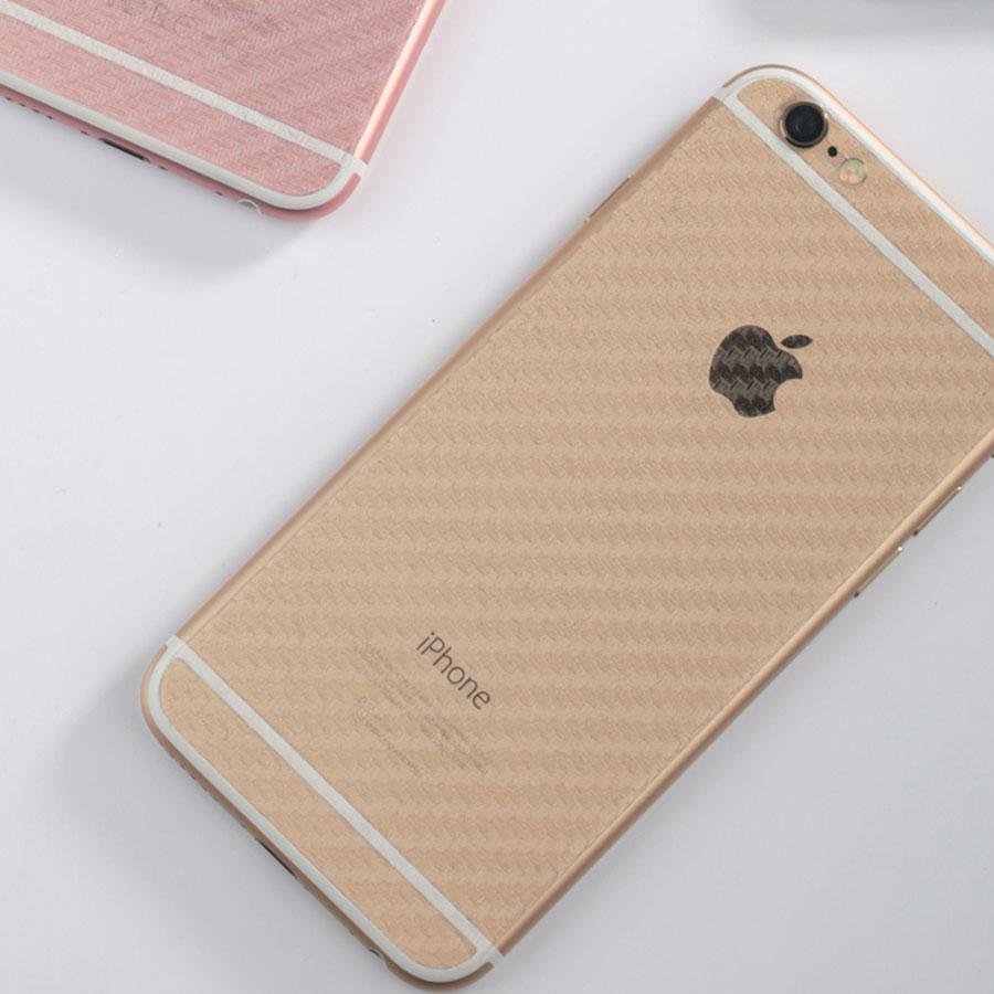 Folie spate iPhone 6 TPU textura de fibra carbon