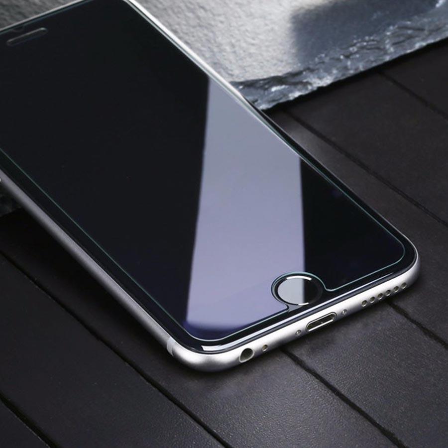 Folie sticla iPhone 6 Plus tempered glass rezistenta la zgarieturi