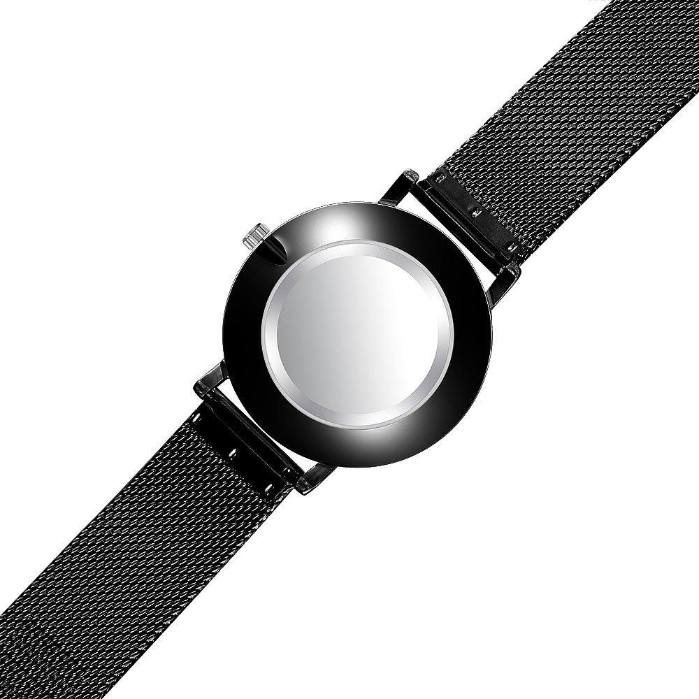 Ceas de mana Unisex slim curea metalica mecanism Quartz