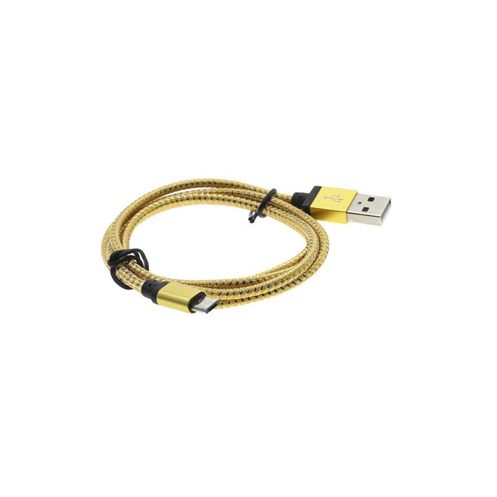 Cablu Micro USB Fast Charge material textil rezistent la uzura lungime 100cm