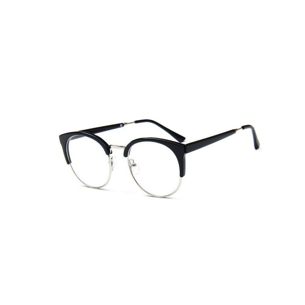 Ochelari lentile transparente femei model vintage aspect ochi de pisica
