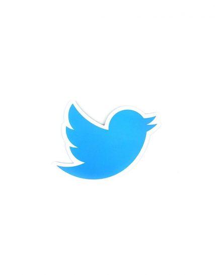 Sticker Twitter pentru laptop
