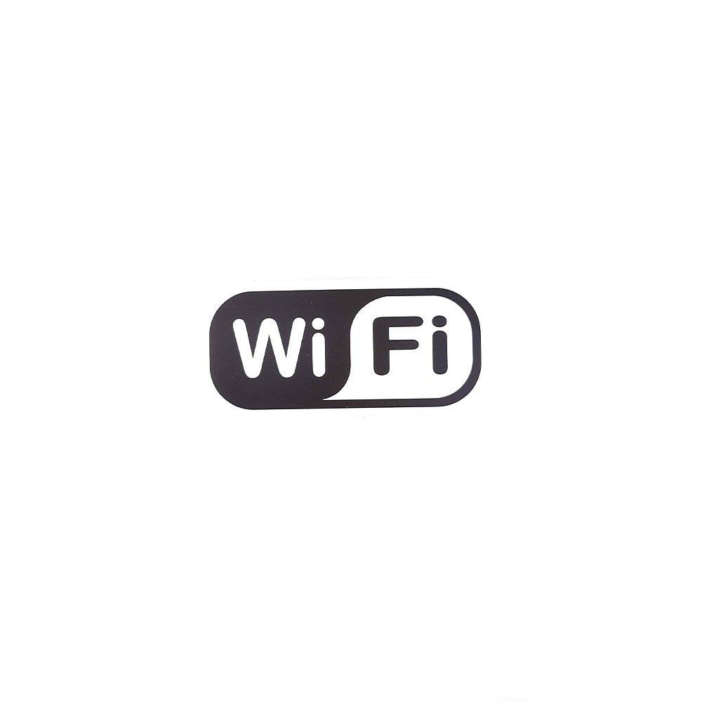 Sticker WIFI pentru laptop si masina laminat adeziv