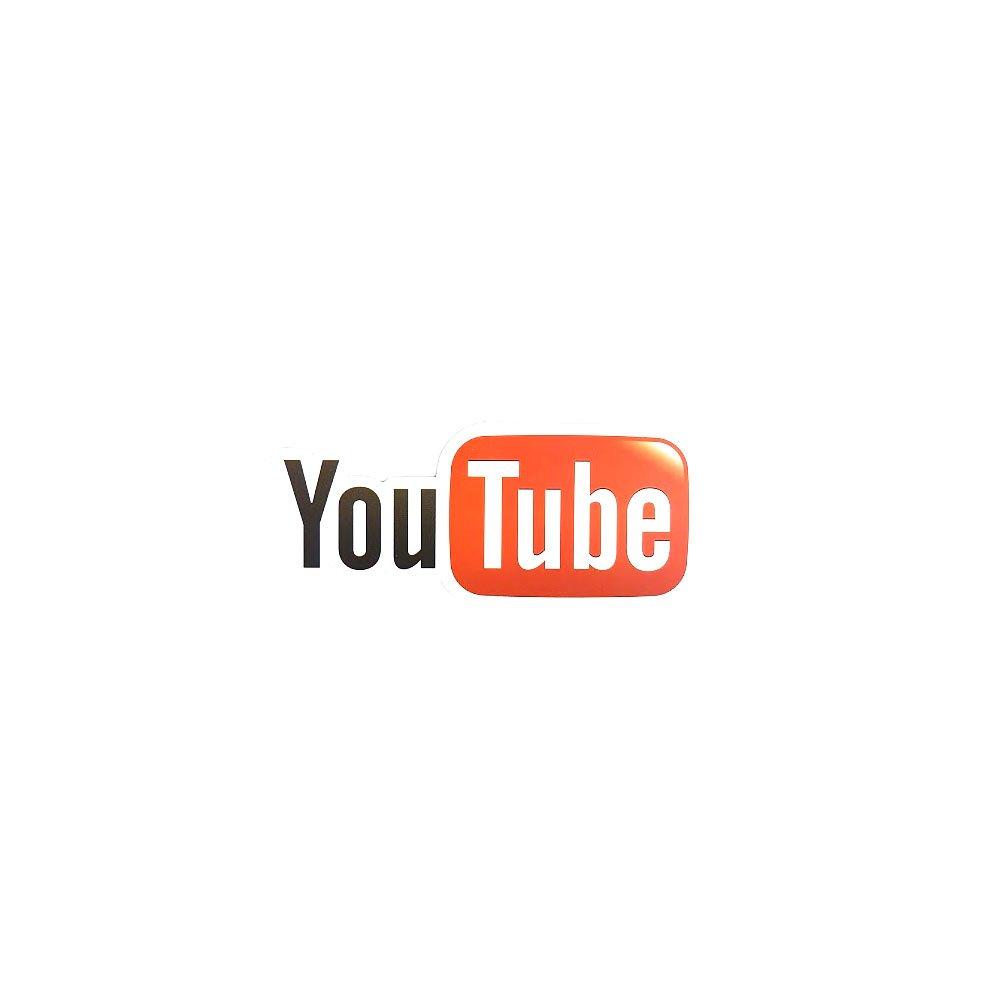 Sticker Youtube pentru laptop, masina sau frigider din hartie laminata