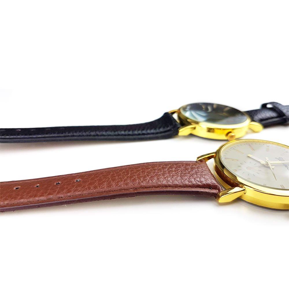 Ceas de mana unisex curea din imitatie piele calitate A cu mecanism Quartz