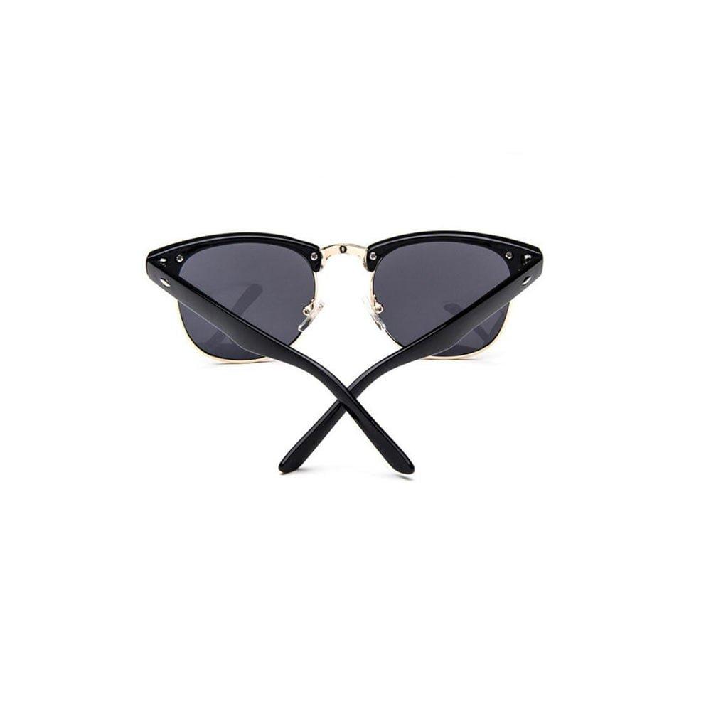 Ochelari de soare UNISEX similari Clubmaster cu balamale metalice UV400