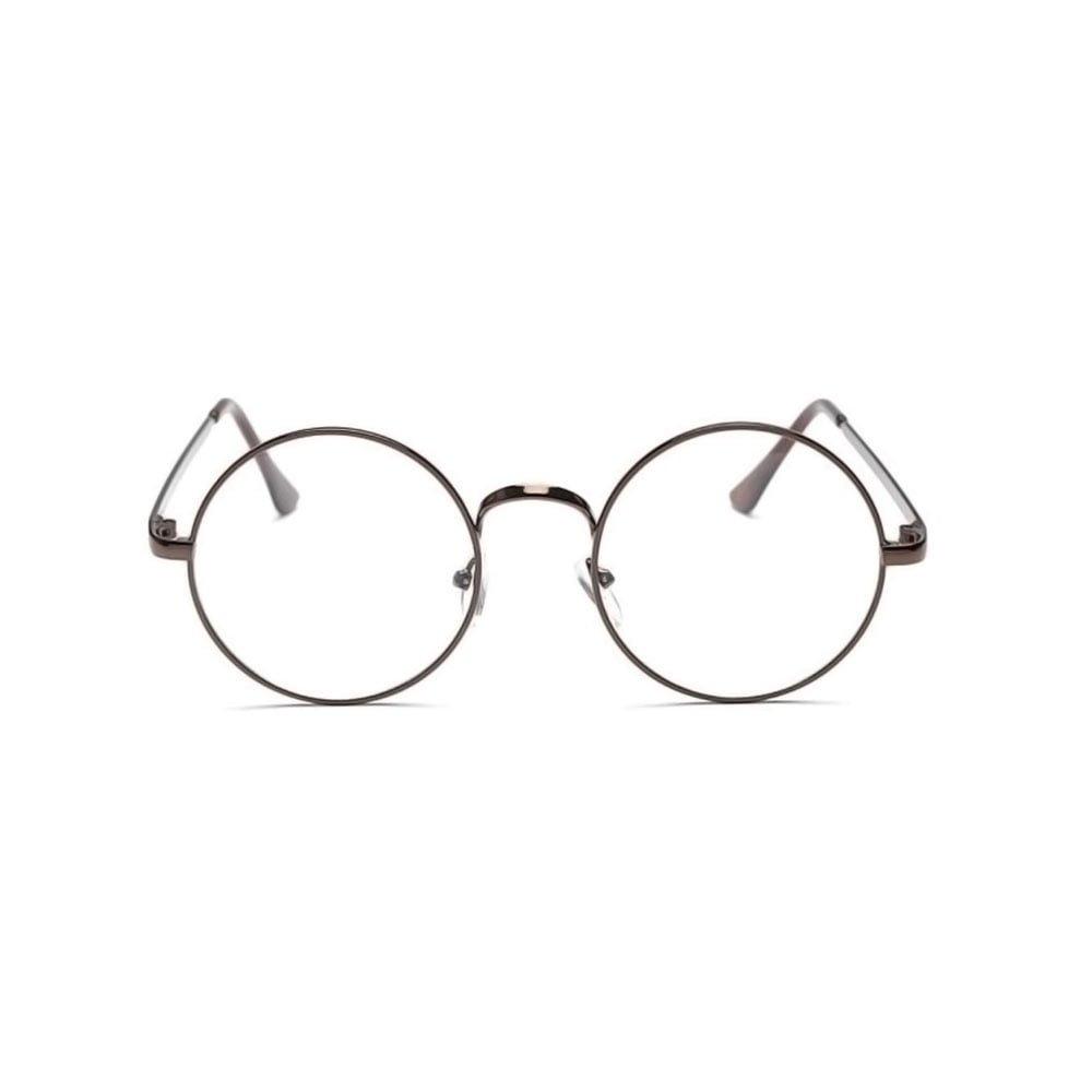 Ochelari lentile transparente din metal cu lentile rotunde aspect vintage