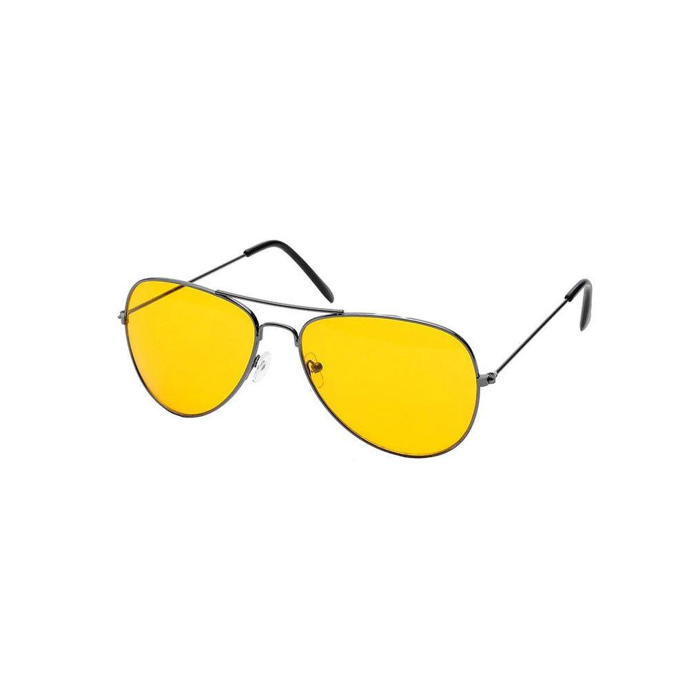 Ochelari lentile semitransparente culoare galbena stil aviator UV400