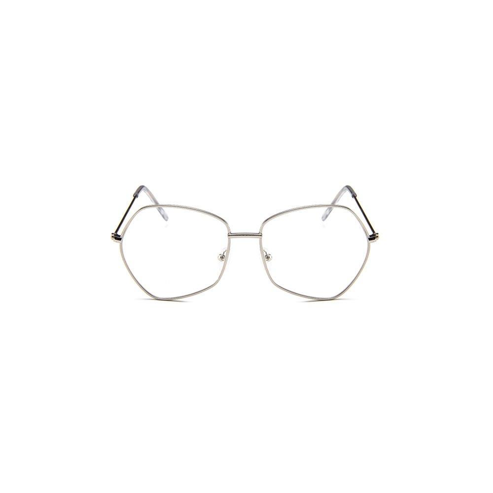 Ochelari lentile transparente forma iregulata metalici UV400