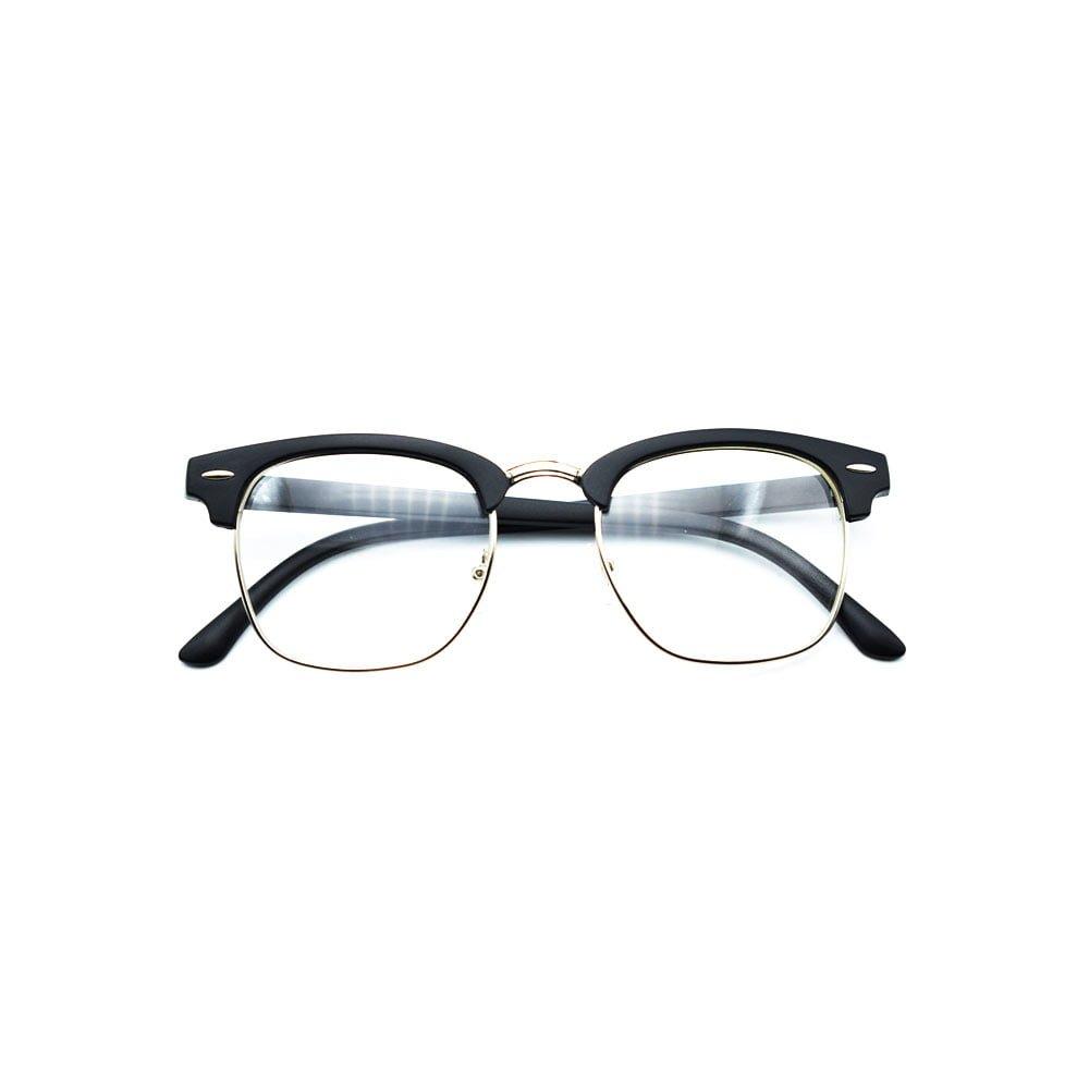 Ochelari lentile transparente balama metalica similari Club Master