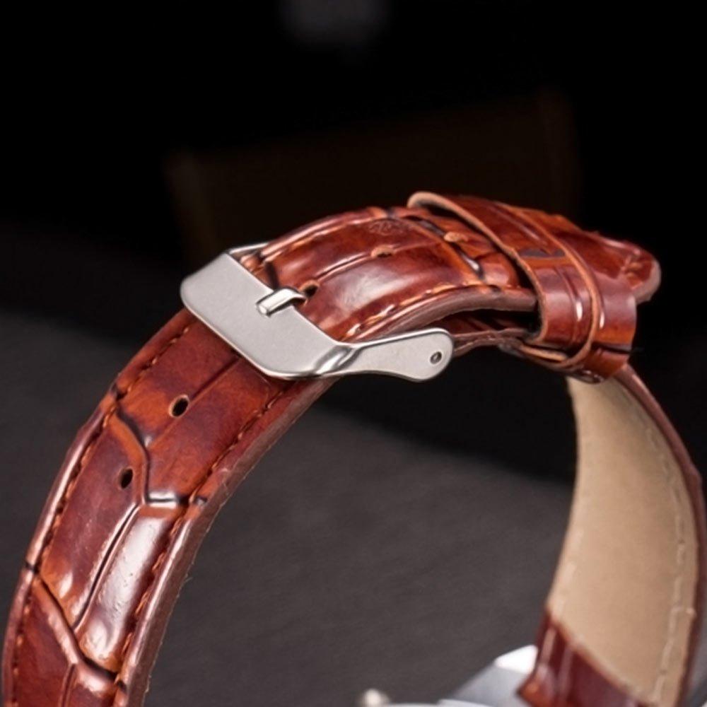 Ceas de mana barbatesc curea din imitatie piele Quartz