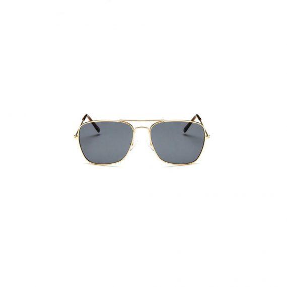 Ochelari de soare unisex cu design minimalist si constructie metalica