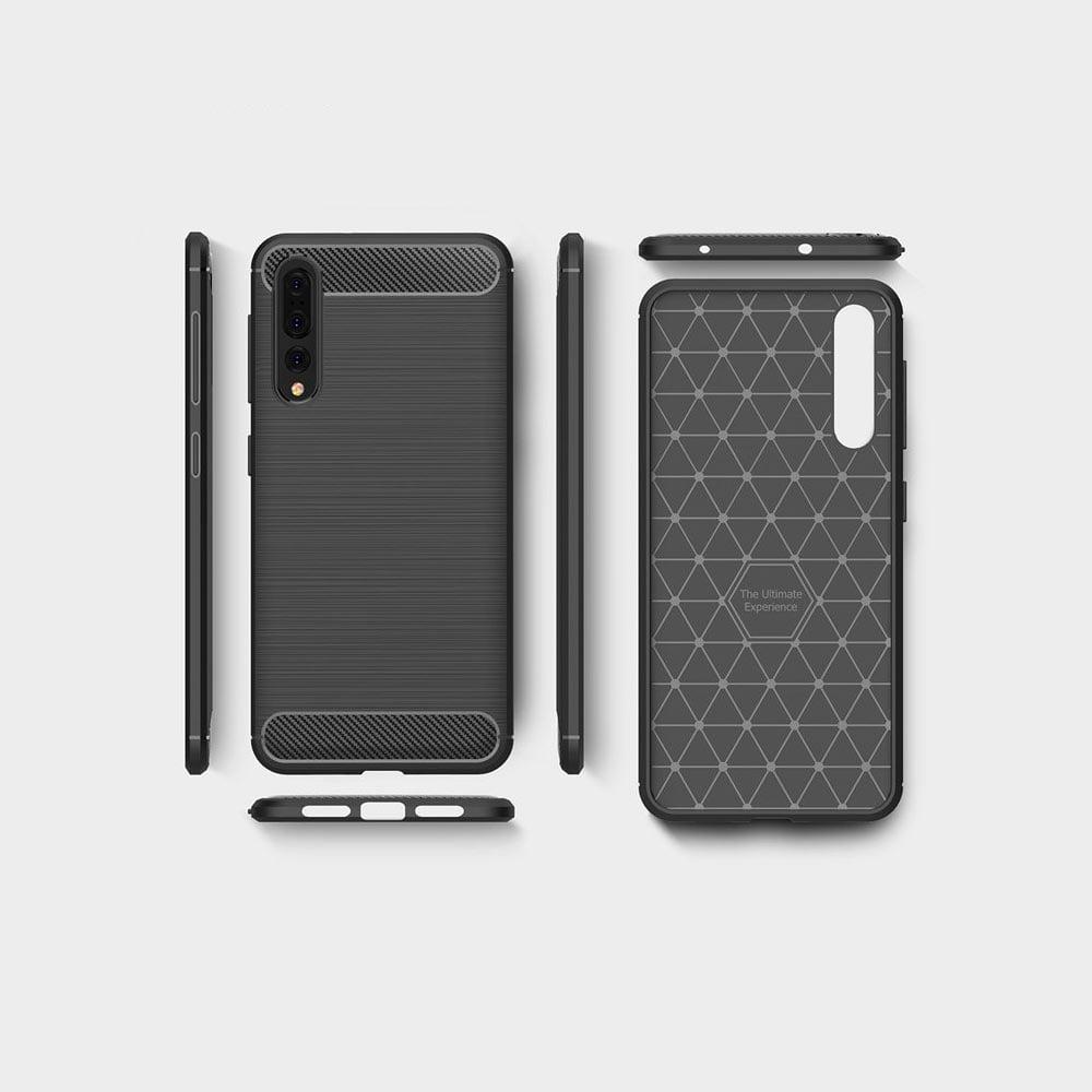 Husa Huawei P20 carbon construita din ABS protectie ridicata soc