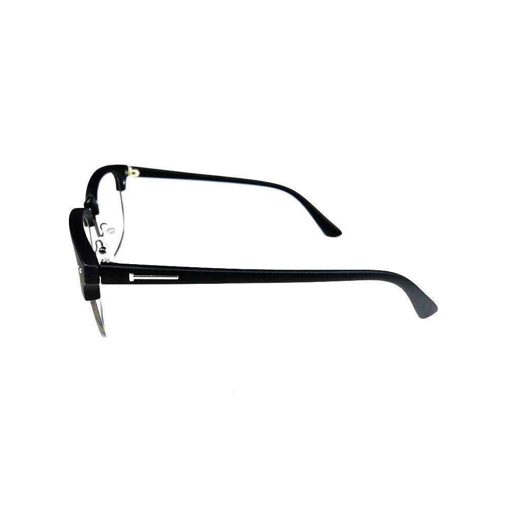Ochelari lentile transparente unisex retro cu insertii metalice in rama