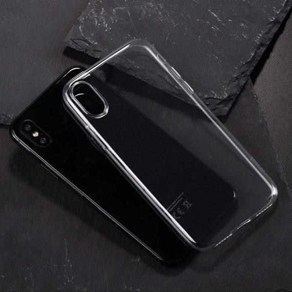 Husa silicon slim iPhone XS Max culoare transparenta rezistanta la soc mica