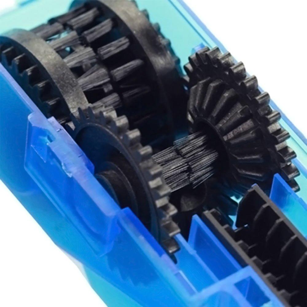 Dispozitiv curatare lant bicicleta din plastic cu perii interne pentru curatare