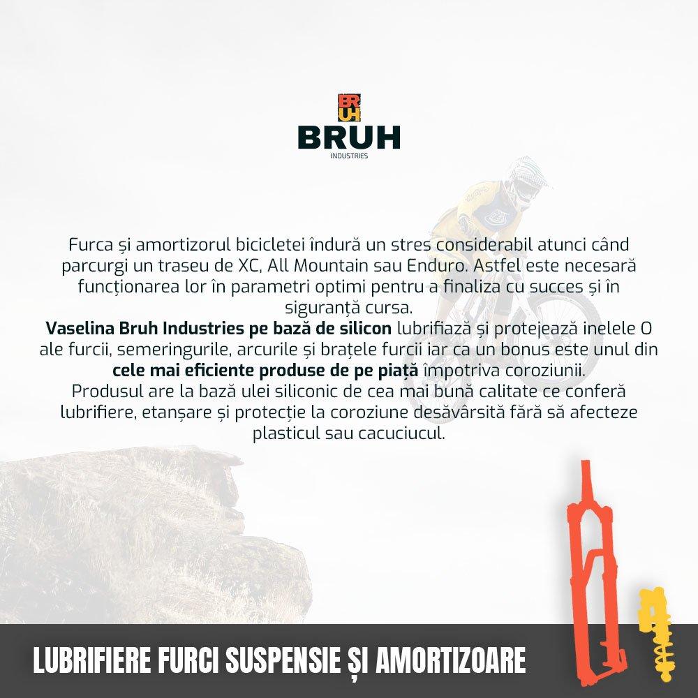 Vaselina bicicleta Siliconica pentru furci suspensie, amortizoare, ax sau butuc pedalier Bruh Industries