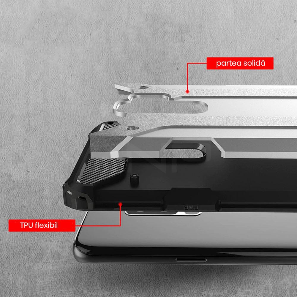Husa armura Xiaomi Mi A1 cu protectie mare la soc din doua piese aurie