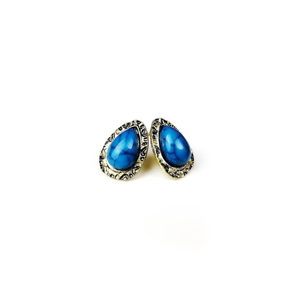 Cercei pentru femei cu pietre albastre