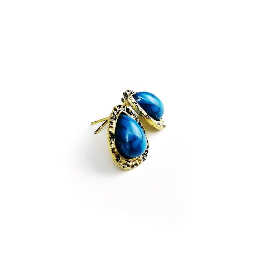 Cercei pentru femei cu pietre albastre raindrop din aliaj Zinc