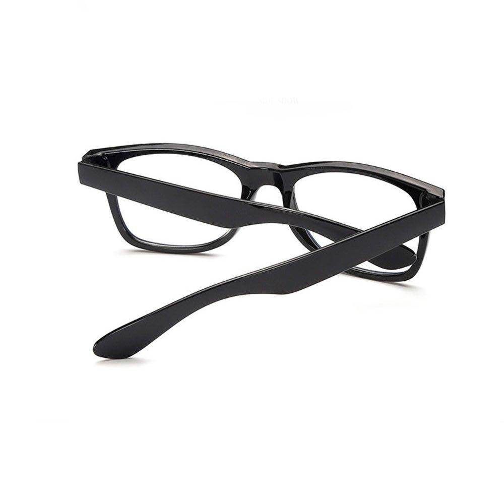 Ochelari lentile transparente stil Wayfarer din ABS lucios UV400