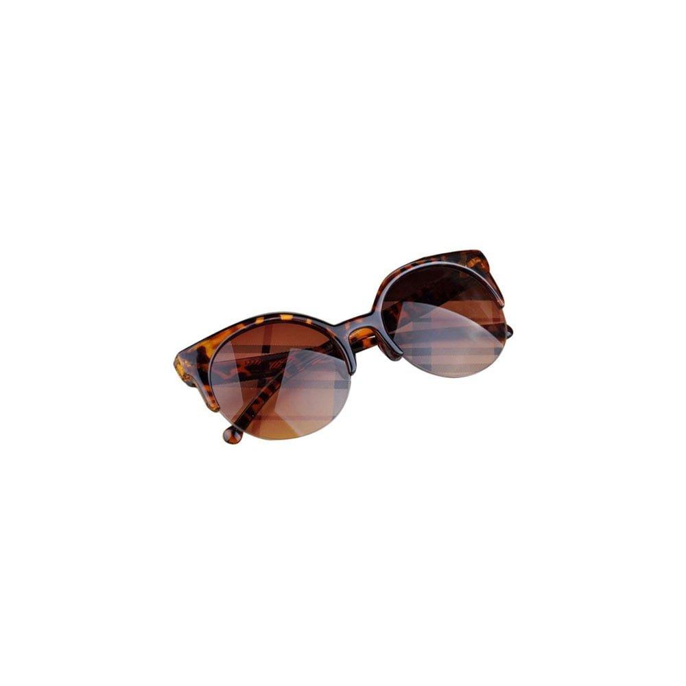 Ochelari de soare model vintage cu lentile ovale protectie UV400