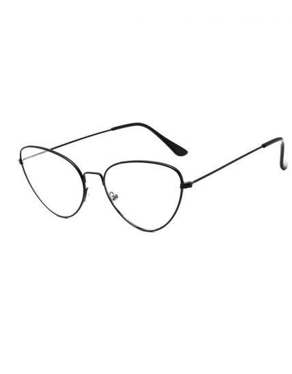 Ochelari lentile transparente metalici