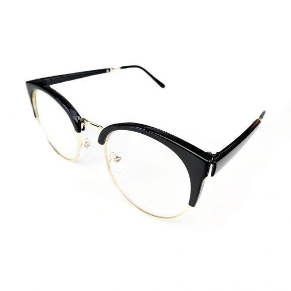 Ochelari lentile transparente aspect cat-eyes