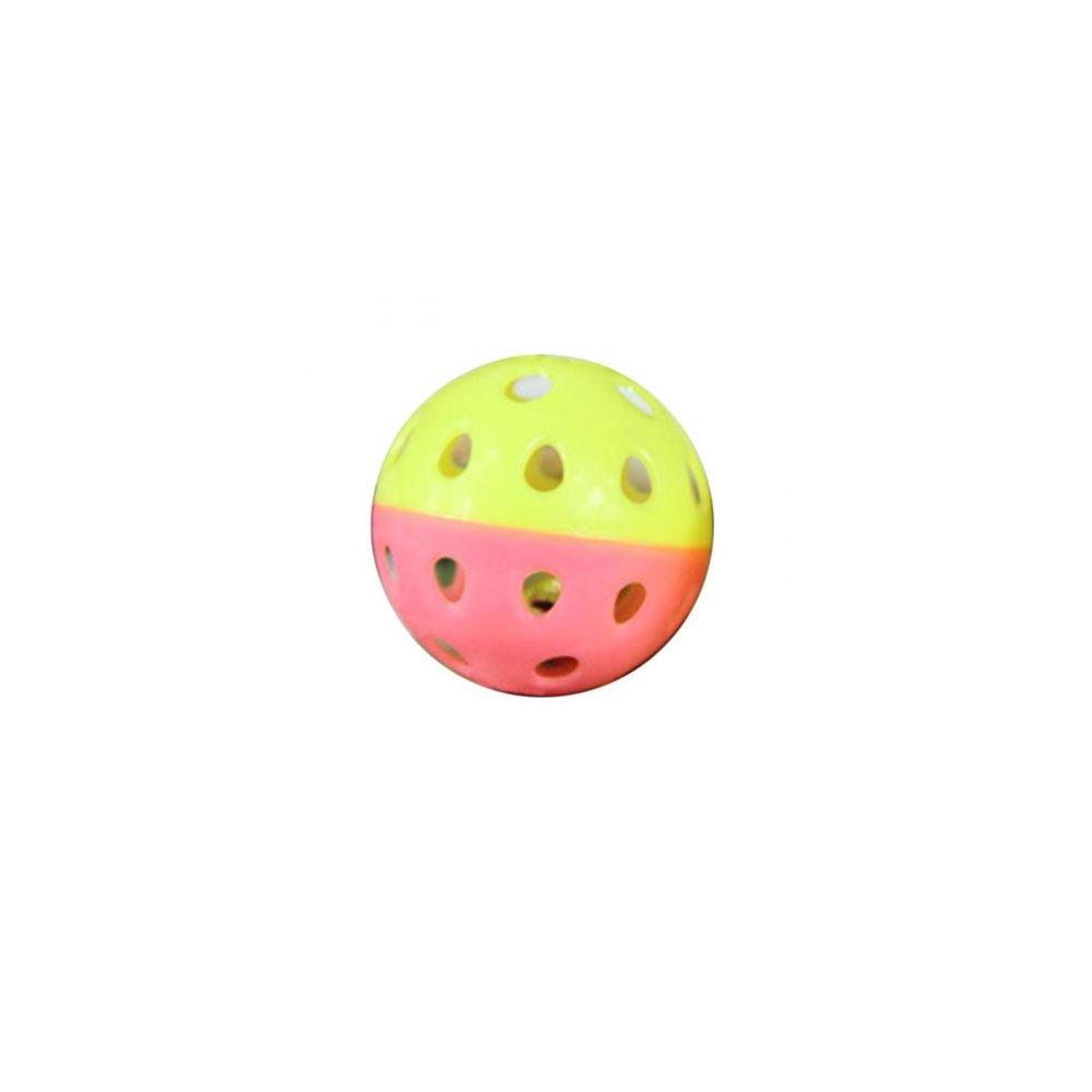Jucarie pentru pisici minge din plastic cu clopotel pe interior