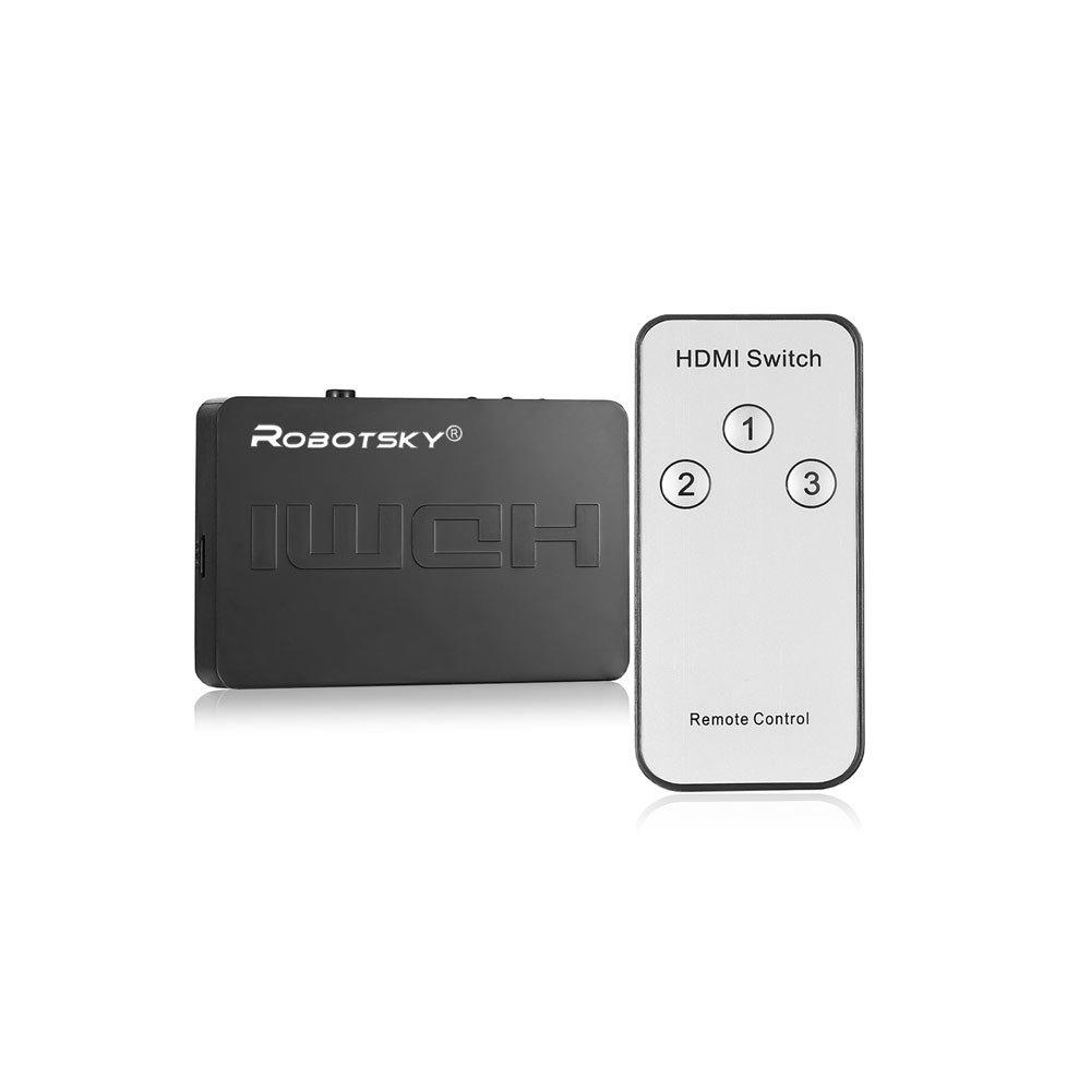 Splitter HDMI cu telecomanda standard v1.4a cu 1 x output si 3 x input