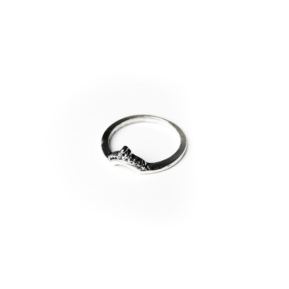 Inel din aliaj cu aspect de coronita pentru femei