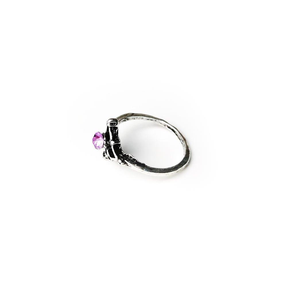 Inel pentru femei din aliaj Zinc cu piatra mov in mijloc