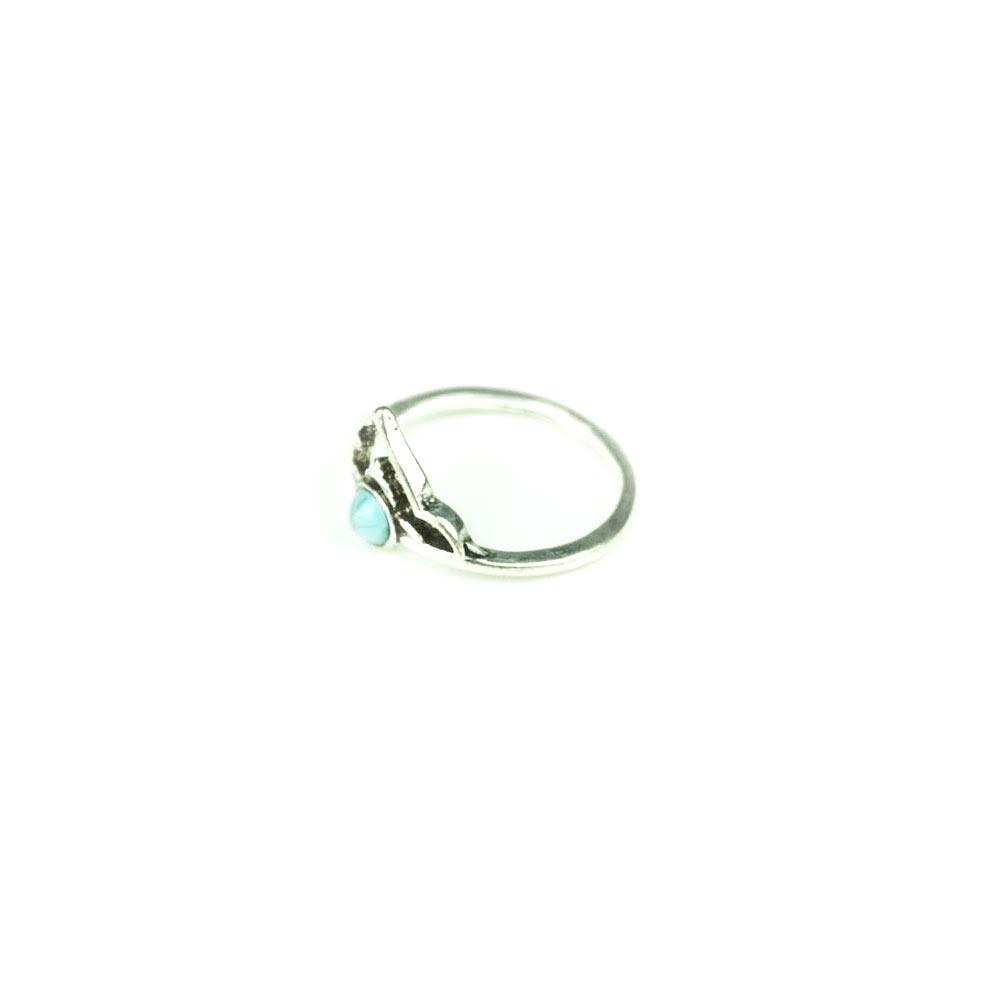 Inel pentru femei din aliaj nepretios cu o piatra din policarbonat