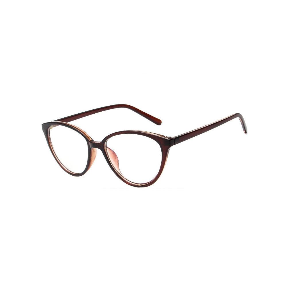 Ochelari lentile transparente din ABS protectie UV400 aspect ochi pisica