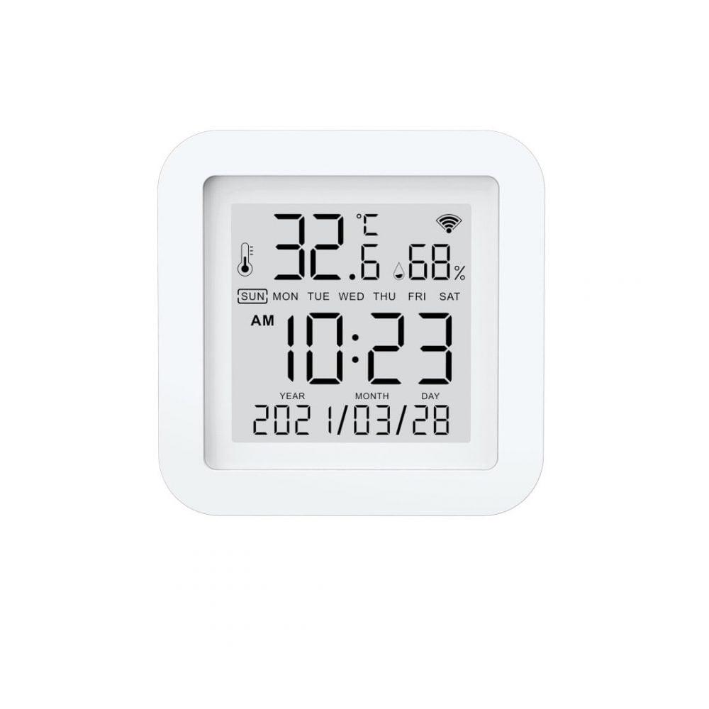 Senzor temperatură și umiditate WIFI Tuya compatibil Google Home și Alexa